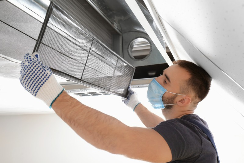 commercial air conditioning being fitted